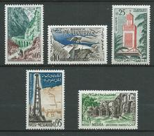 ALGERIE 1962 . Série N°s 364 à 368 . Neufs ** (MNH) - Algérie (1962-...)