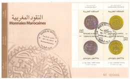 Maroc. FDC. 2011. 4 Timbres. Monnaies Marocaines. Tête Bêche.  Idrissides Et Almoravides. - Morocco (1956-...)