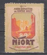 Vignetten Reklamemarken Frankreich France : 10. Foire Exposition Du Centre-Quest Niort 1932 ** - Erinnophilie