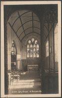 Lady Chapel, St Buryan Church, Cornwall, C.1930s - Hawke RP Postcard - England