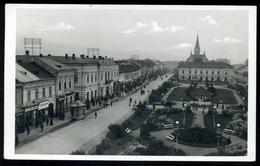 MÁRAMAROSSZIGET/Sighetu Marmației 1942. Utca Látkép Templom Részlettel, Boltokkal Régi Képeslap - Hungría