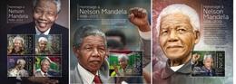 Niger 2013, Nelson Mandela, 4val In BF+2BF - Niger (1960-...)