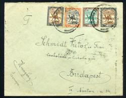 SUDAN 1925. Rare ,  4 Colour Franking Cover To Budapest , Hungary . - Hungary