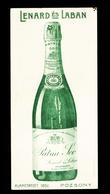 1910-20. Régi Reklám Számoló Cédula , Pezsgő, Pozsony - Vieux Papiers