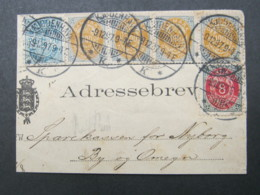 1897 , Adressbrev   ,  Fragment - 1864-04 (Christian IX)