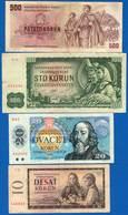 Tchécoslovaquie  4  Billets - Tchécoslovaquie