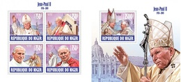 Niger 2013, Pope John Paul II, 4val In BF+BF - Papes