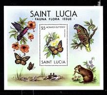 Serie De Santa Lucía Nº Yvert HB-26 **  MARIPOSAS (BUTTERFLIES) - St.Lucia (1979-...)