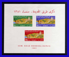 1961 - Yemen - Sc. 124a - 126a - Calle De Hodeida A Sanaa - MNH - YE- 152 - Yemen
