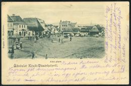 KÉZDIVÁSÁRHELY 1902. Régi Képeslap, Alsó Piac - Ungheria