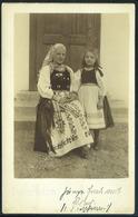 PÉTERFALVA /  Petrești  1910. Cca. Népviselet, Régi Fotós Képeslap - Hungría