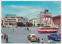 TURKEY SAMSUN Bank Banque Old Car Bus , TURCHIA Old  Photo Postcard - Turchia