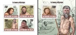 Niger 2013, Prehistoric Men, 4val In BF+BF - Préhistoire