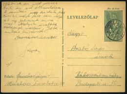 MUNKÁCS 1944. Díjjegyes Lap Rákosszentmihályra Küldve - Ungheria