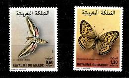 Serie De Marruecos Nº Yvert 921/22 ** MARIPOSAS (BUTTERFLIES) - Marruecos (1956-...)