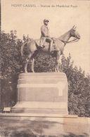 Cp , 59 , MONT-CASSEL , Statue Du Maréchal Foch - Autres Communes