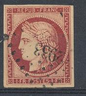 N°6 CARMIN ROUGE LOSANGE P.C. - 1849-1850 Cérès