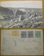 Montenegro 1908 Podgoritza The Bridge Of Vezir Postage To Germany - Montenegro