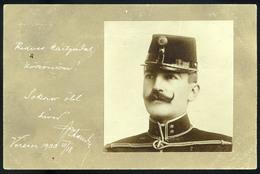 VERSECZ 1900. Katona Portré, érdekes (egyáltalán Nem) Amatőr, Fotós Képeslap  /  VERSECZ 1900 Soldier Portrait Interesti - Foto