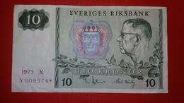D-0301. SWEDEN 10 KRONOR 1971 REPLACEMENT - Suède