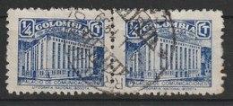 MiNr. 3 Kolumbien, Zwangszuschlagsmarken 1939, 15. Jan. Errichtung Des Neuen Postgebäudes. - Kolumbien
