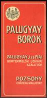 SZÁMOLÓ CÉDULA 1910-20. Cca. Régi Reklám Grafika ,Pozsony, Palugyay Borok - Vieux Papiers