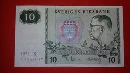 D-0322. SWEDEN 10 KRONOR 1972 REPLACEMENT - Suède