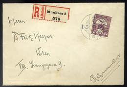 MUNKÁCS 1915. Ajánlott Levél Bécsbe Küldve - Usati