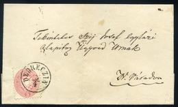 DEBRECEN 1866. Szép 5kr-os Levél Nagyváradra Küldve - Gebruikt