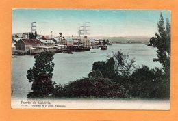 Puerto De Valdivia Chile 1905 Postcard - Chile