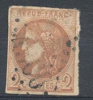 N°40a BORDEAUX NUANCE CHOCOLAT. - 1870 Bordeaux Printing