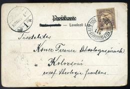 1901. Képeslap Székelyudvarhely-Segesvár Mozgóposta Bélyegzéssel - Hongrie