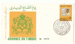 Maroc. 3  FDC. 1983 - Morocco (1956-...)