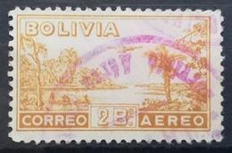 1938 BOLIVIA Airplane Over River Country Motive - Bolivia