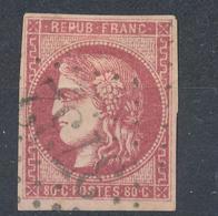 N°49a BORDEAUX ROSE FONCE. - 1870 Bordeaux Printing