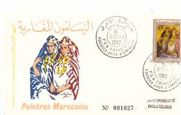 Maroc. 3  FDC. 1982 Et 1986 - Morocco (1956-...)