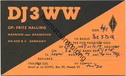 QSL - Funkkarte - DJ3WW - 37574 Einbeck-Naensen - 1959 - Amateurfunk