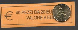 20 CENT ITALIA  2018 - ROLL  ORIGINALE ZECCA - DATA VISIBILE - FDC - Rotolini