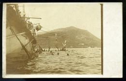 K.u.K. HADITENGERÉSZET I. VH.1914.  S.M.S. Zrinyi Fotós Képeslap , Hajóbélyegzéssel Budapestre Küldve  /  K.u.K. NAVY WW - Ungheria