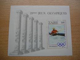 (18.12) ZAIRE    **  1984 Blok 57 - Zaire