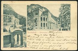 HERKULESFÜRDŐ 1897 (!)  Régi Képeslap - Hungría