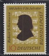 West Germany 1956 Composer Robert Schumann, MNH (**) Michel 234 - BRD