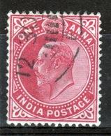 India 1902 King Edward VII  One Anna Carmine Used Stamp. - India (...-1947)