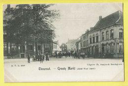 * Torhout - Thourout * (D.V.D. 8909 - Uitgever Th. Samyn De Borchgrave) Grote Markt, Zuid West Kant, Animée, TOP, Unique - Torhout