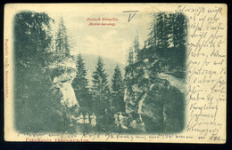 BORSZÉK 1900. Medve Barlang Régi Képeslap - Hungary