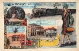 Liege Luik    Un Bonjour De Liege  Stoomtrein Train      I 4918 - Liege