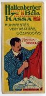 SZÁMOLÓ CÉDULA  Régi Reklám Grafika , Kassa, Halfenberger - Vieux Papiers