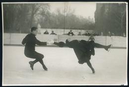 """SPORT Korcsolya 1935. Rotter-Szollás Páros """"Halálforgás"""" érdekes, Fotós Képeslap / SPORT Figure Skate 1935 Rotter-Szollá - Other"""