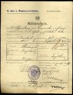 I. VH . Eisenbahnregiment Pola , Régi Dokumentum - Vecchi Documenti