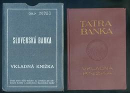 KASSA 1925. Tatra Banka , Betétkönyv - Vieux Papiers